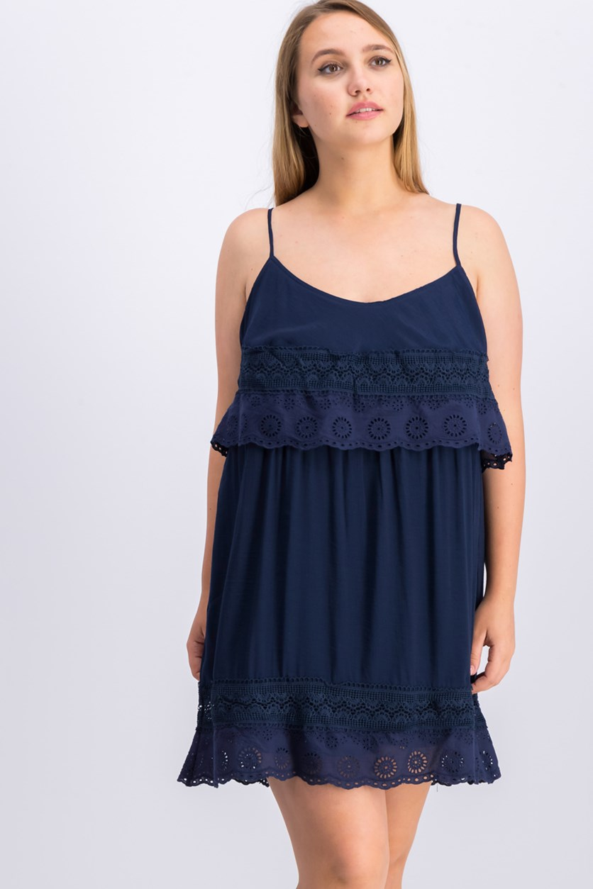Women's Spaghetti Strap Dress, Navy