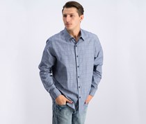 Mens Piola Plaid-Print Shirt,  Blue Combo