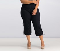 Style Co. Cropped Cargo Pants, Deep Black