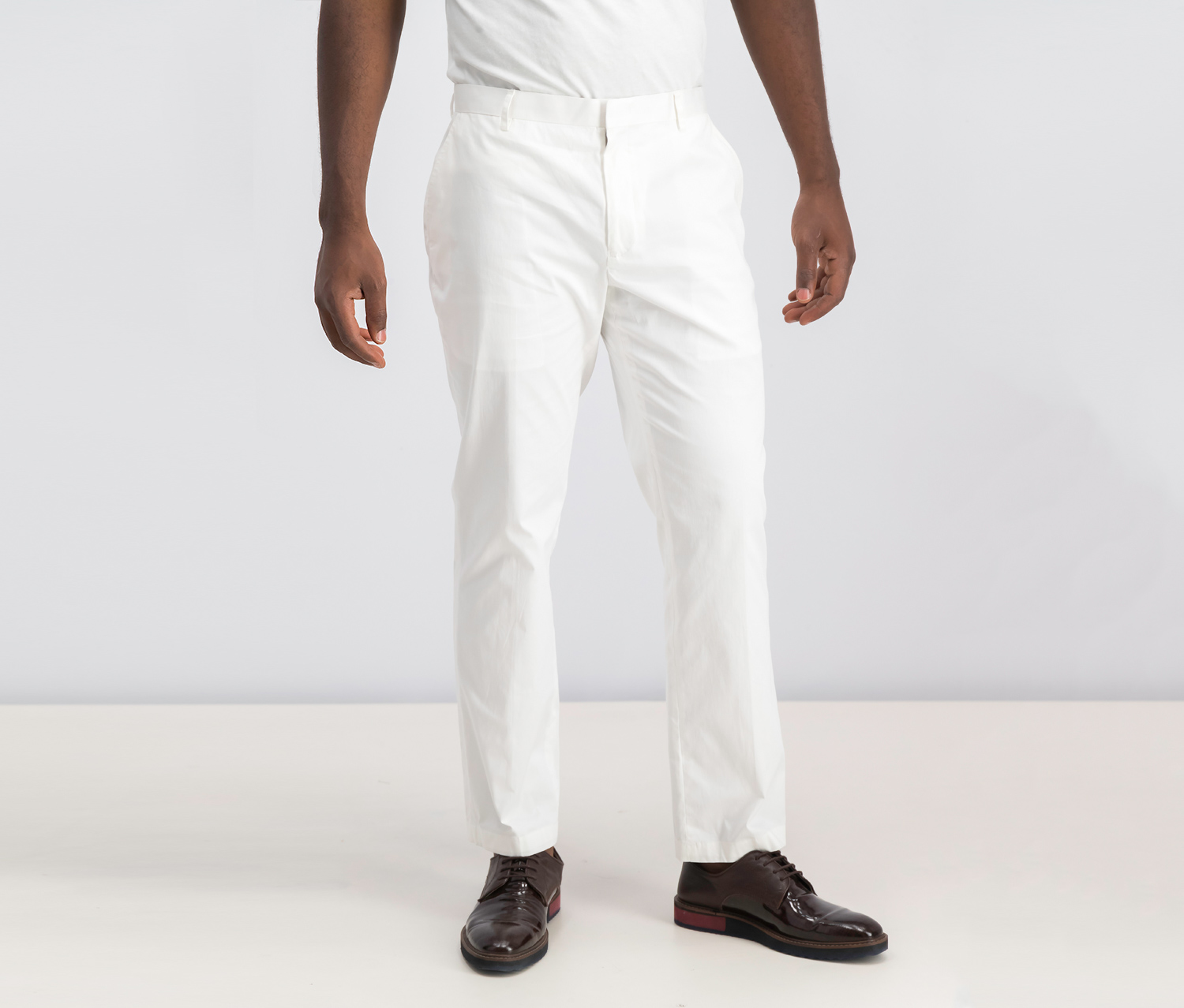 Men's Collins Slim-Fit Pants, White