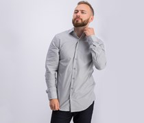 Unlisted Men's Slim-Fit Chambray Dress Shirt, Ice Grey
