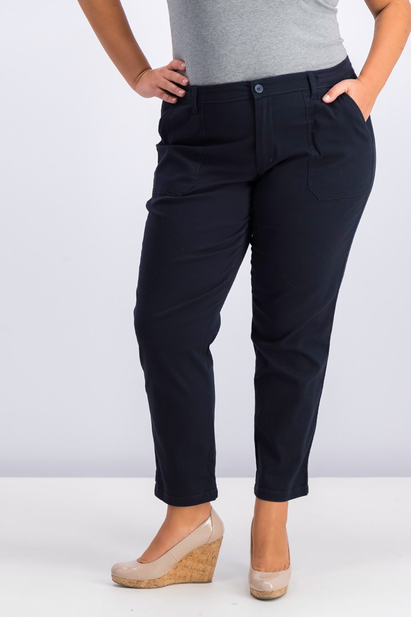 Women's Chino Pants, Navy
