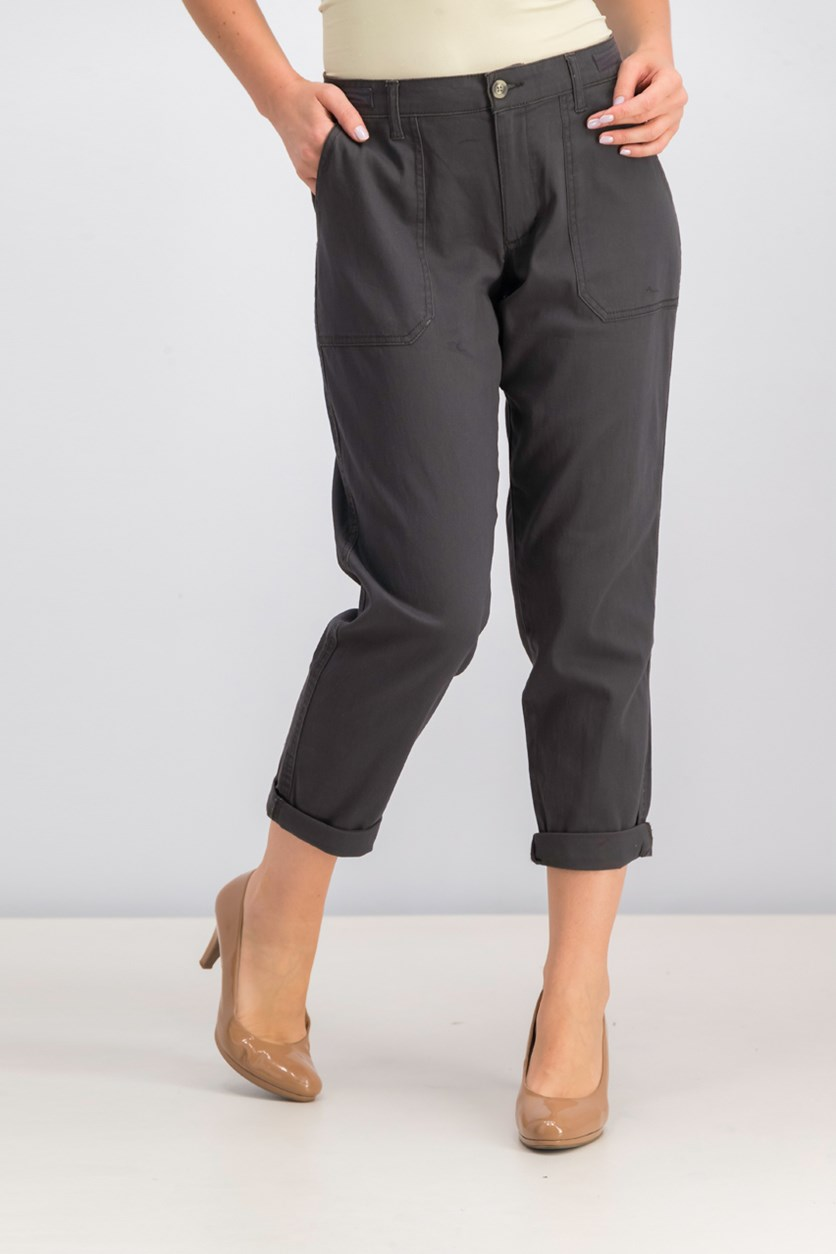 Women's Chino Pants, Charcoal