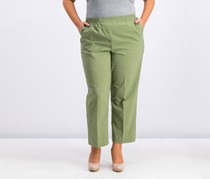 Alfred Dunner Elastic-Waist Pull-On Pants, Sage