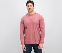 Mens Cool FX Performance Henley, Biking Red