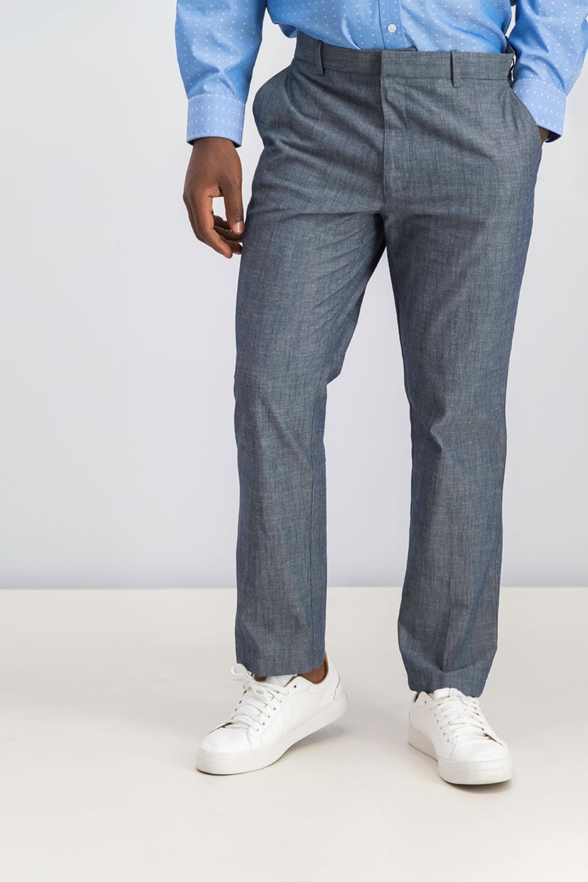 Men's Emporium Linen Pants, Blue Combo