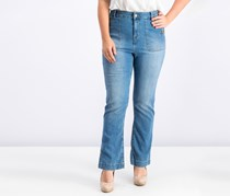 Style Co. Short Boot-Leg Jeans,  Austin Wash