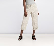 Women's Relaxed-Fit Cropped Pants, Stonewall