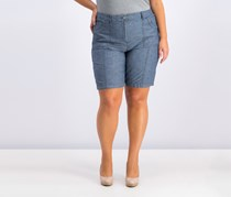 Karen Scott Curved-Pocket Shorts, Navy