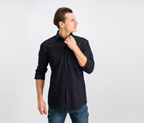 Alfani Men's Performance Stretch Solid Dress Shirt, Black