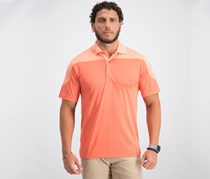 Pga Tour Men's Colorblocked Golf Polo, Orange