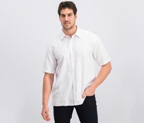Mens Embroidered Panel Shirt, Bright White