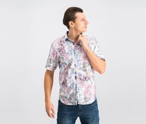 Tommy Bahama Mens Diego Printed Shirt, Deep Morel