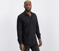 International Concepts Men's Ryan Topper Shirt, Deep Black