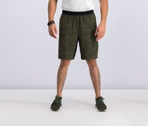 Ideology Men's Reflective Printed Shorts, Aged Olive
