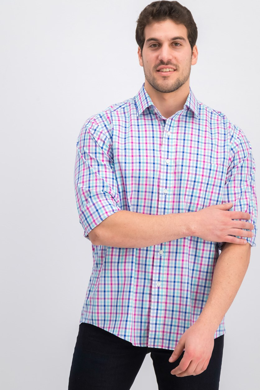 Men's Classic-Fit Wrinkle, Bluered