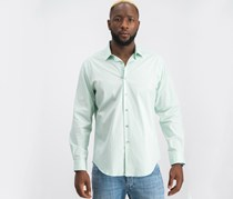 Men's Slim-Fit Stretch Solid Dress Shirt, Ash Green
