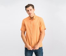 Mens Mercato Printed Shirt, Orange Combo
