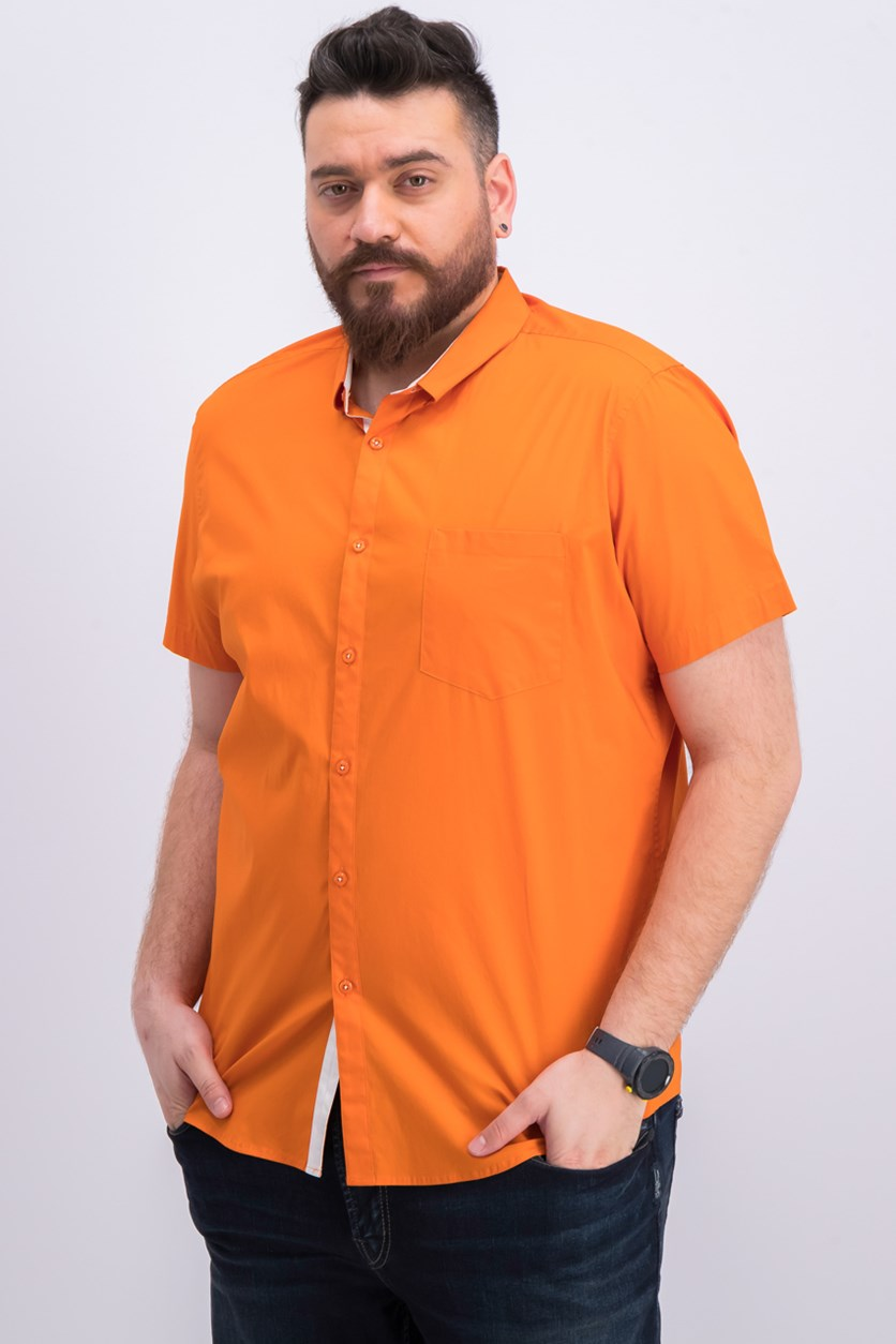 International Concepts Men's Stretch Pocket Shirt, Glazed Carrot
