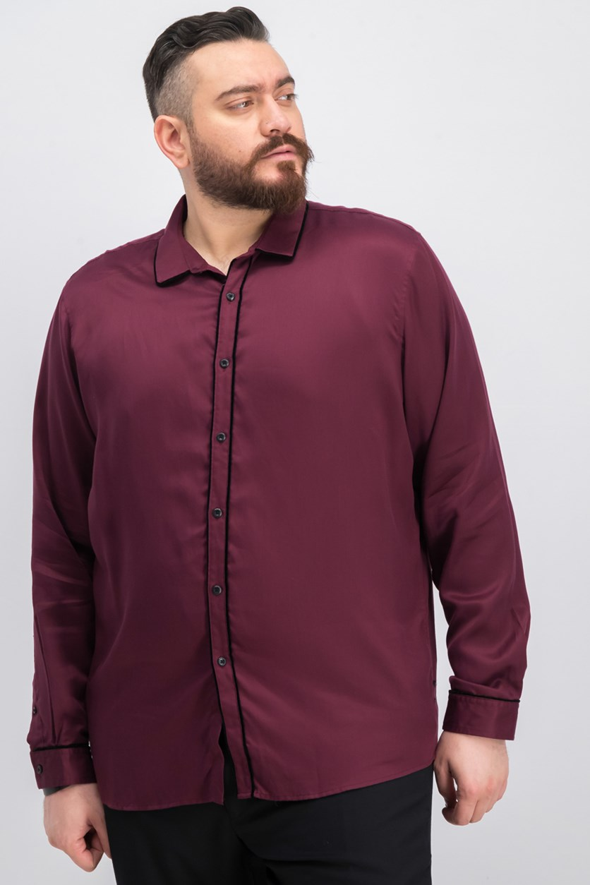 International Concepts Long Sleeve Solid Casual Shirt, Port Royale