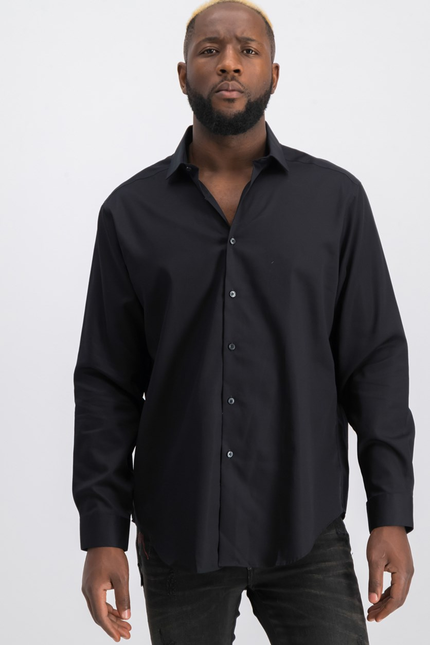 Steel Men's Slim-Fit Dress Shirt, Black