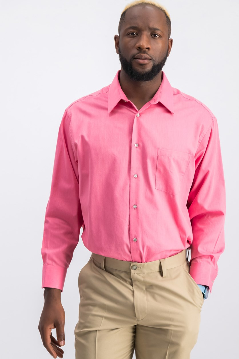 Men's Classic-Fit Wrinkle Free Dress Shirt, Candy