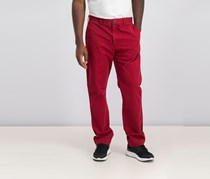 Men's Straight Fit Chino Pants, Red