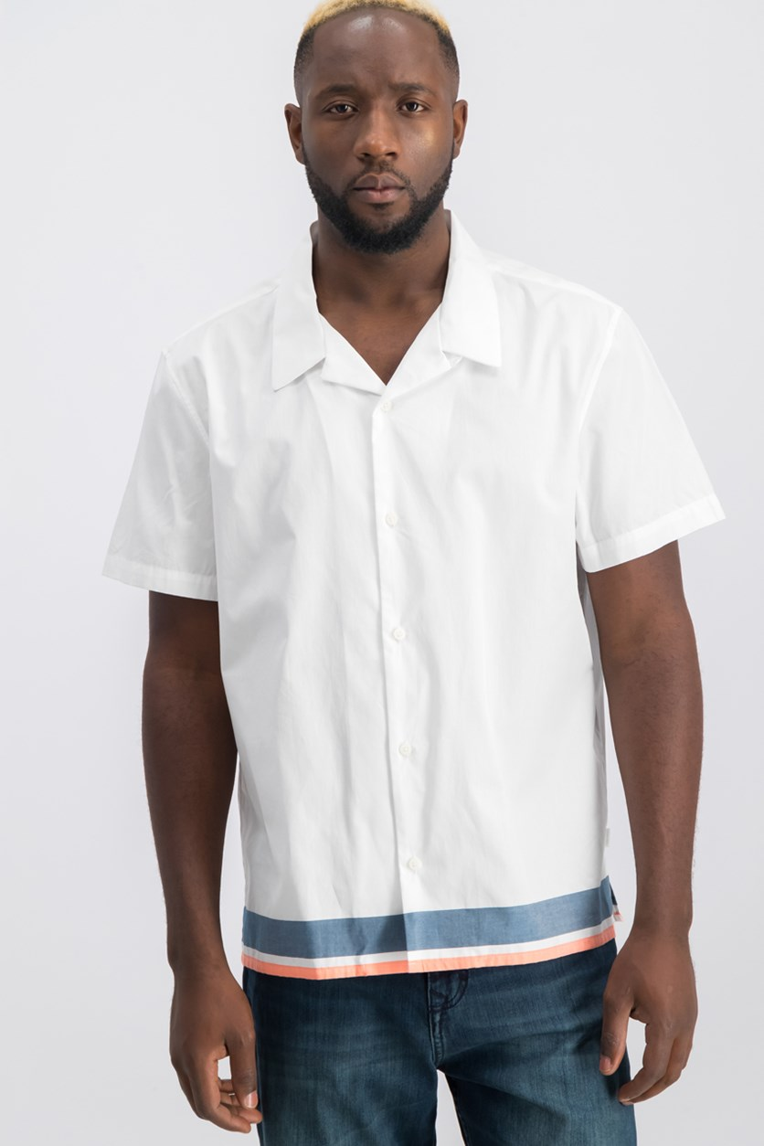 Men's Colorblocked Shirt, White