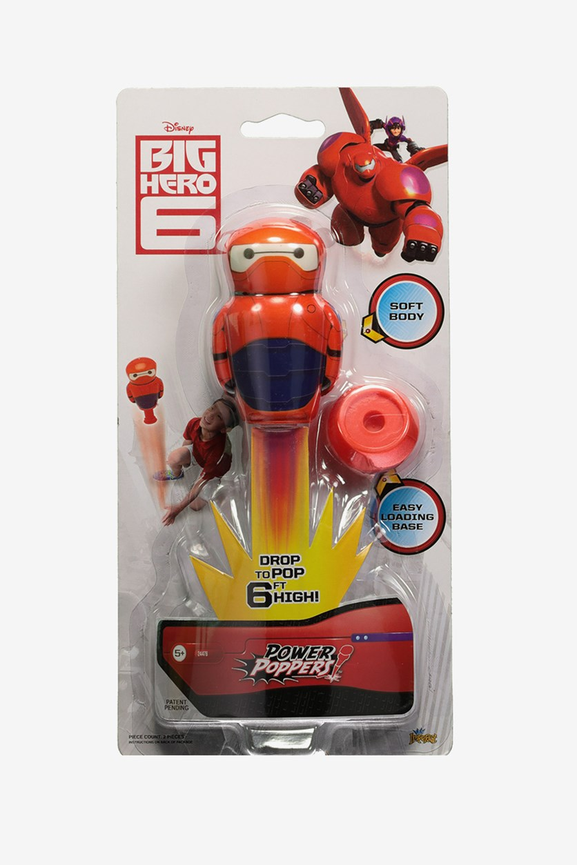 Imperial Licensed Power Popper Soft Body Superhero With Easy Loading Base, Red Combo