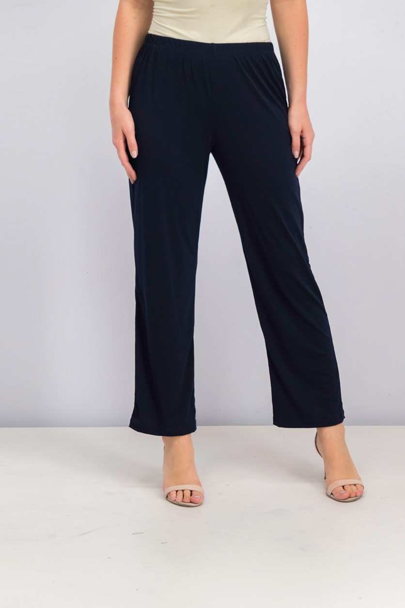 Petite Pants Pull-On Straight, New Navy