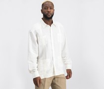 Cubavera Long Sleeve Guayabera Shirt, Bright White