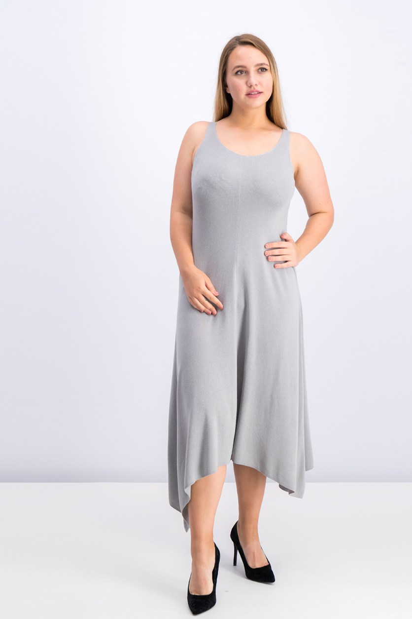 Women's Knit Tank Dress, Alloy