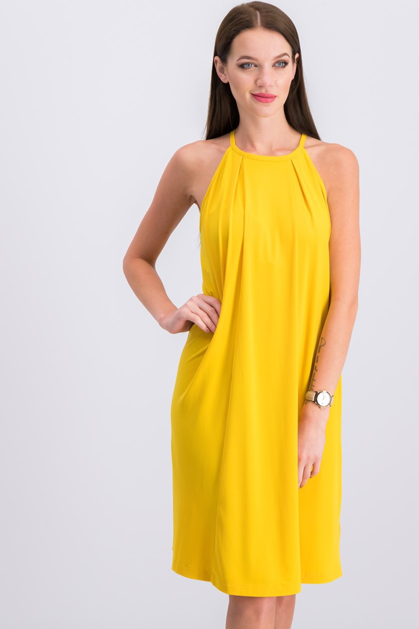 Women's Casual Shift Dress, Yellow