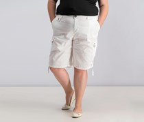 Style & Co Ruched Bermuda Shorts, Bright White