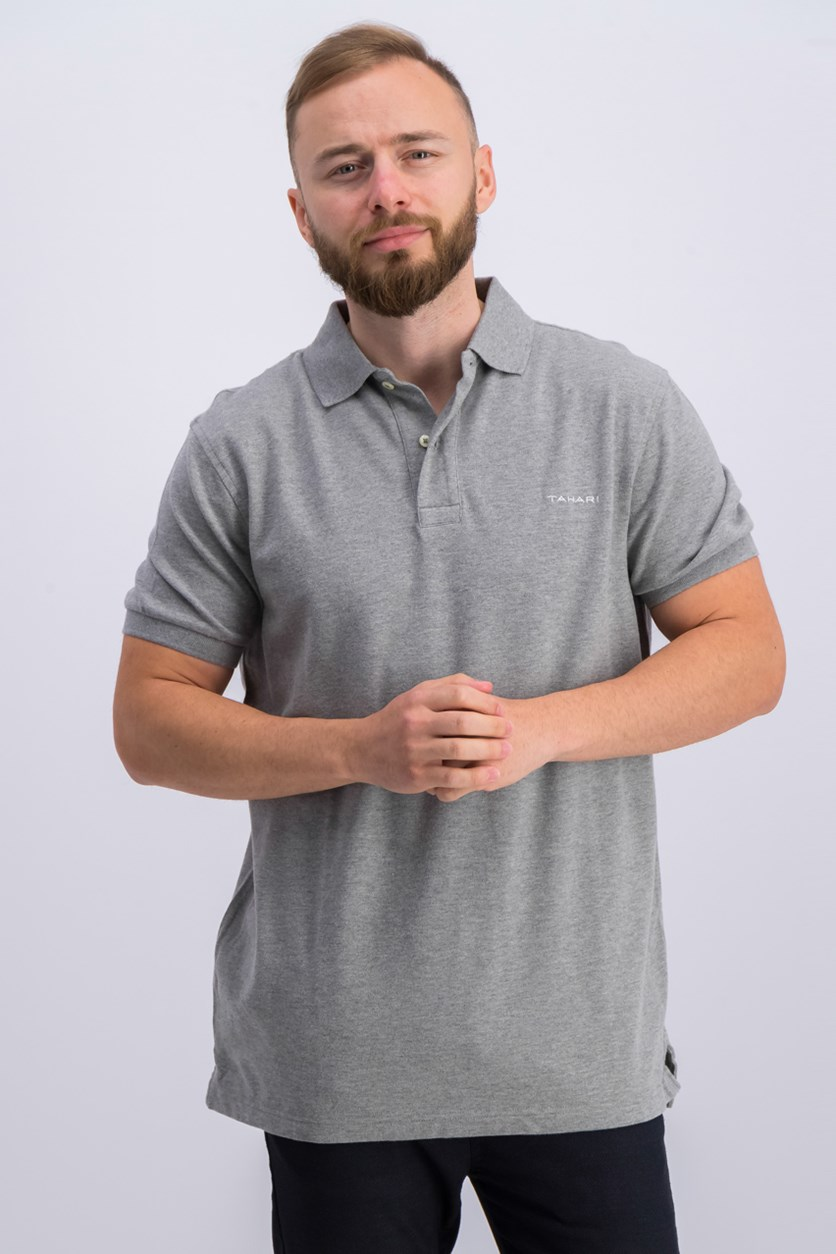 Classic Pique Polo Shirt, Heather Grey