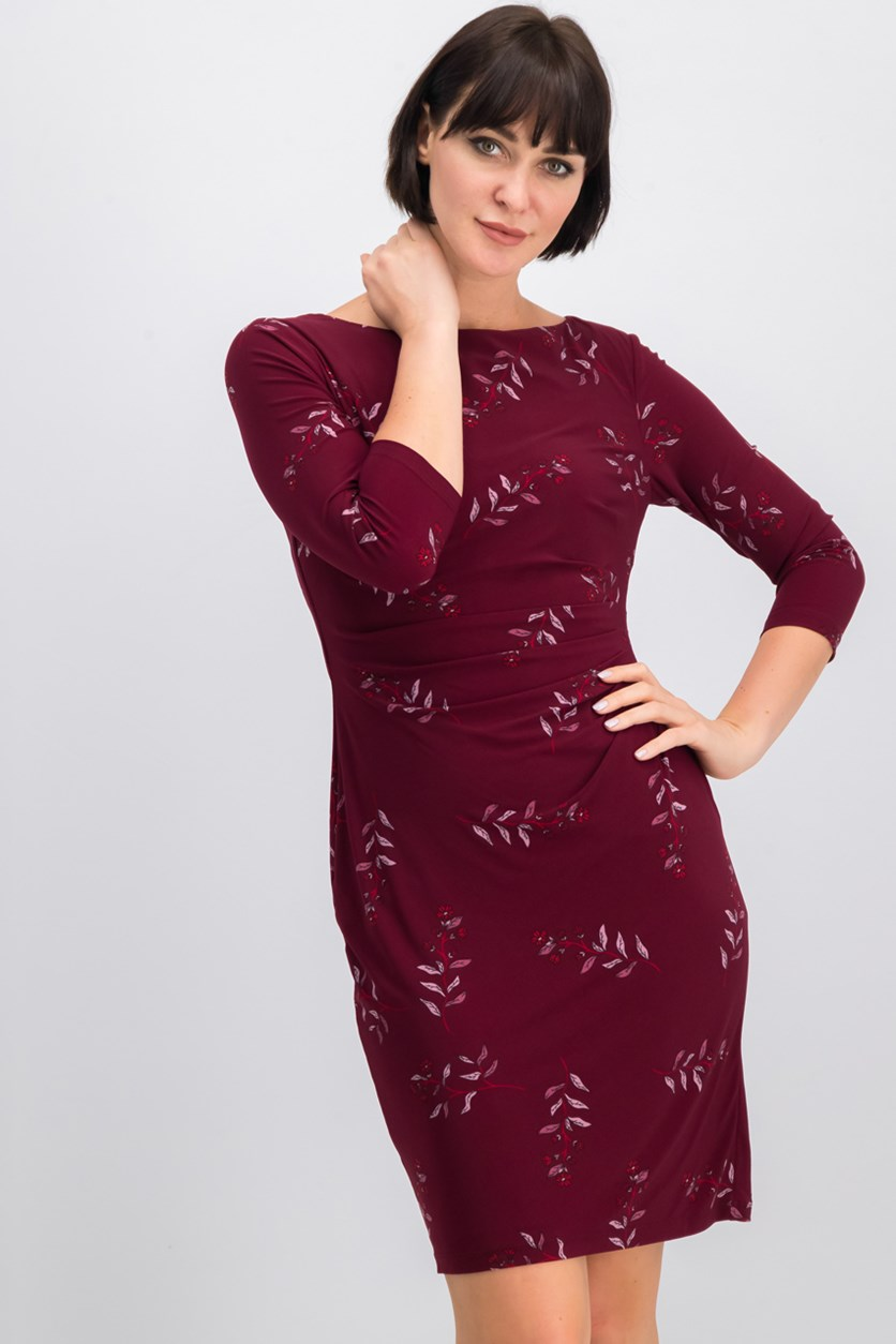 Women's Printed Dress, Pomegranate