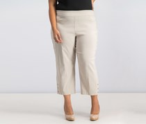 JM Collection Cropped Straight-Leg Pants, Stonewall