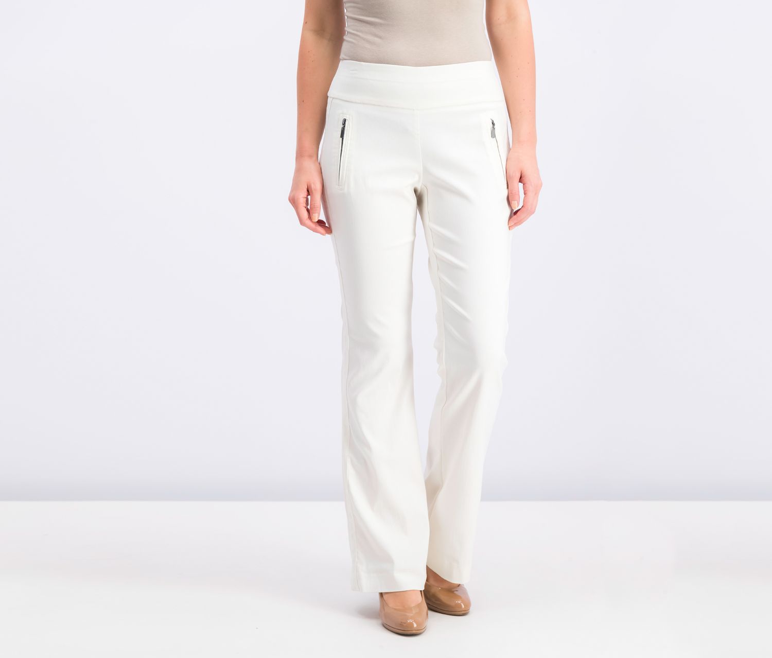 International Concepts Curvy-Fit Wide-Leg Pants, Washed White