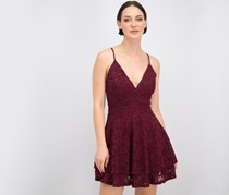 Emerald Sundae Women's Love, Nickie Lew Lace Fit And Flare Dress, Burgundy