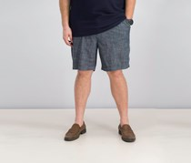 Nautica Mens Classic-Fit Chambray Short, Charcoal Blue