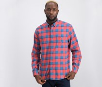 Nautica Mens Classic Fit Buffalo Plaid Shirt, Sun Baked Red