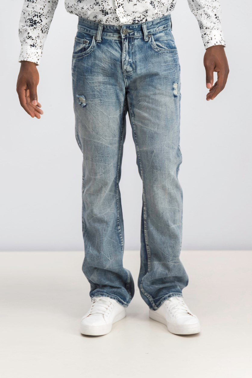 Men's Gale Modern Bootcut Jeans, Light Wash