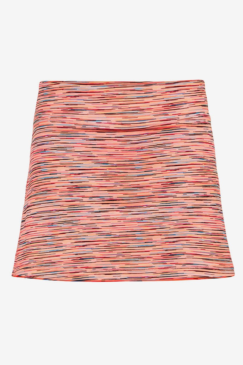 Girl's  Space-Dye Skort, Peach Spacedye