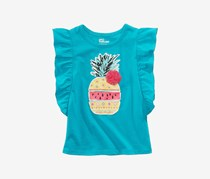 Epic Threads Pineapple Graphic-Print Flutterd, Teal Glow