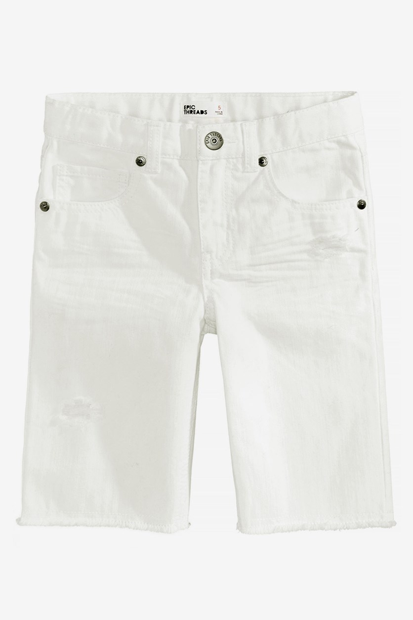 Boy's Shorts, White Wash