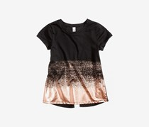 Ideology Big Girls Metallic Splatter T-Shirt, Noir