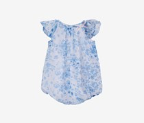 First Impressions Baby Girls Floral-Print Bubble, Blue Bell