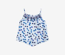 Kids Girls Printed Ruffle-Trim Tank Top, Blue