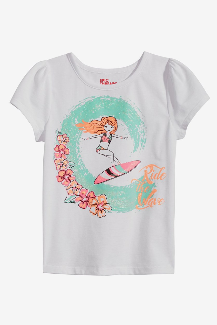 Surfer Girl T-Shirt, Bright White