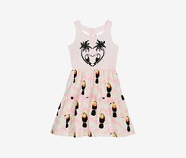 Little Girls Keyhole-Back Tank Dress, Pink Dust